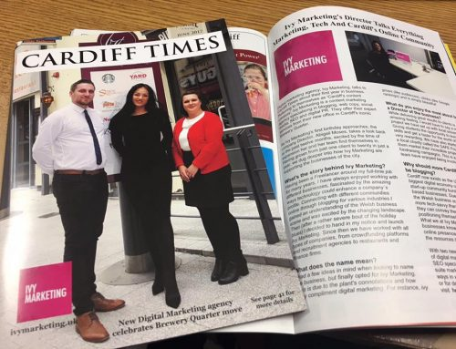 Did you see us on the front cover of Cardiff Times?